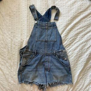 Brandy Melville Jeans Cutoff Denim Overall Shorts